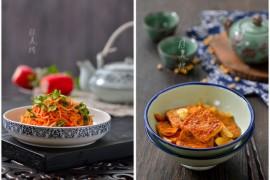 爽口萝卜丝的做法、蒜子大片豆腐的做法【陈美桥】