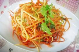 凉拌三丝的家常做法大全(胡萝卜丝、红萝卜丝、黄瓜丝)