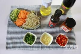 凉拌三丝的家常做法大全(胡萝卜丝、黄瓜丝、豆芽丝)