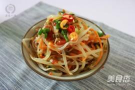凉拌三丝的家常做法大全(黄豆芽、黄瓜丝、胡萝卜丝)