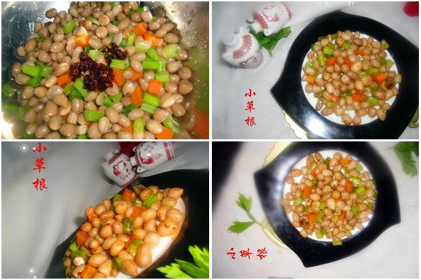 凉拌小菜花生米的做法