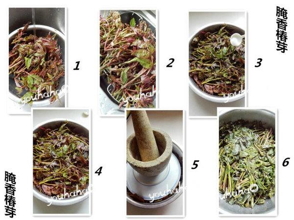 腌渍香椿芽的做法