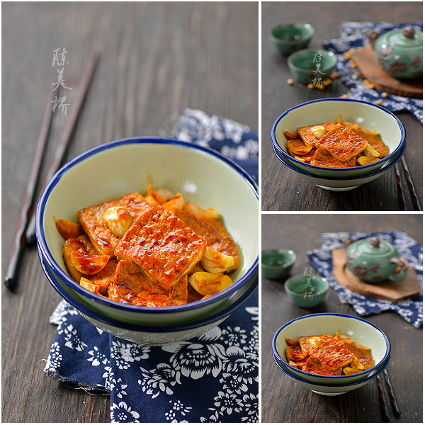 爽口萝卜丝的做法、蒜子大片豆腐的做法